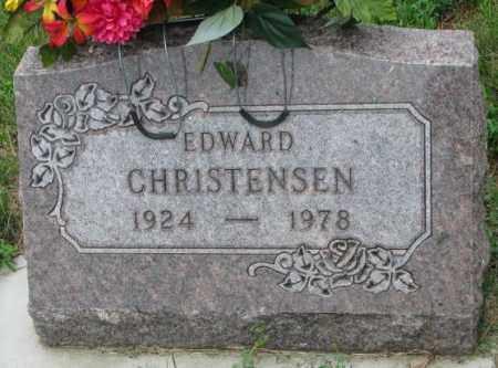 CHRISTENSEN, EDWARD - Yankton County, South Dakota | EDWARD CHRISTENSEN - South Dakota Gravestone Photos