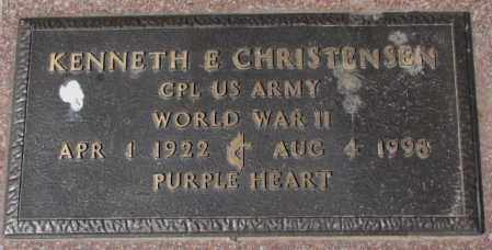 CHRISTENSEN, KENNETH E. (WW II) - Yankton County, South Dakota | KENNETH E. (WW II) CHRISTENSEN - South Dakota Gravestone Photos