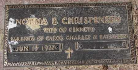 CHRISTENSEN, NORMA E. - Yankton County, South Dakota | NORMA E. CHRISTENSEN - South Dakota Gravestone Photos