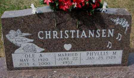 CHRISTIANSEN, PHYLLIS M. - Yankton County, South Dakota   PHYLLIS M. CHRISTIANSEN - South Dakota Gravestone Photos
