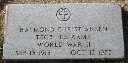 CHRISTIANSEN, RAYMOND (WW II) - Yankton County, South Dakota   RAYMOND (WW II) CHRISTIANSEN - South Dakota Gravestone Photos