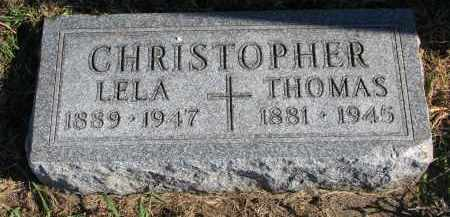 CHRISTOPHER, LELA - Yankton County, South Dakota | LELA CHRISTOPHER - South Dakota Gravestone Photos