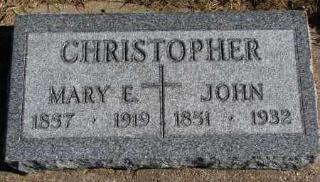 CHRISTOPHER, JOHN - Yankton County, South Dakota | JOHN CHRISTOPHER - South Dakota Gravestone Photos
