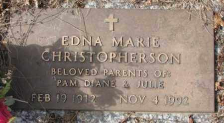 CHRISTOPHERSON, EDNA MARIE - Yankton County, South Dakota | EDNA MARIE CHRISTOPHERSON - South Dakota Gravestone Photos