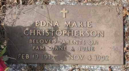 CHRISTOPHERSON, EDNA MARIE - Yankton County, South Dakota | EDNA MARIE CHRISTOPHERSON - South Dakota Gravestone Photos