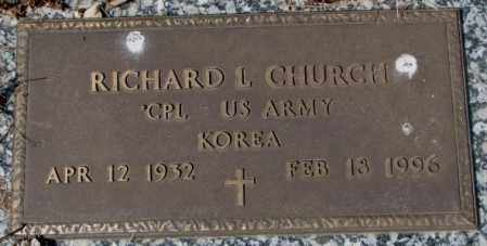 CHURCH, RICHARD L. (KOREA) - Yankton County, South Dakota | RICHARD L. (KOREA) CHURCH - South Dakota Gravestone Photos