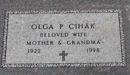 CIHAK, OLGA P. - Yankton County, South Dakota | OLGA P. CIHAK - South Dakota Gravestone Photos