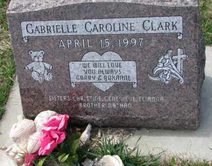 CLARK, GABRIELLE CAROLINE - Yankton County, South Dakota | GABRIELLE CAROLINE CLARK - South Dakota Gravestone Photos