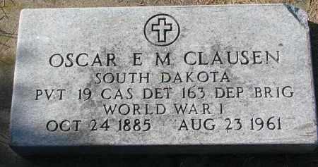 CLAUSEN, OSCAR E.M. - Yankton County, South Dakota | OSCAR E.M. CLAUSEN - South Dakota Gravestone Photos
