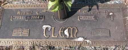 CLEM, RONALD E. - Yankton County, South Dakota | RONALD E. CLEM - South Dakota Gravestone Photos