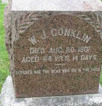 CONKLIN, W.J. - Yankton County, South Dakota | W.J. CONKLIN - South Dakota Gravestone Photos