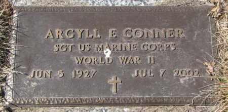 CONNER, ARGYLL E. - Yankton County, South Dakota   ARGYLL E. CONNER - South Dakota Gravestone Photos