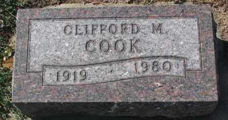 COOK, CLIFFORD M. - Yankton County, South Dakota | CLIFFORD M. COOK - South Dakota Gravestone Photos