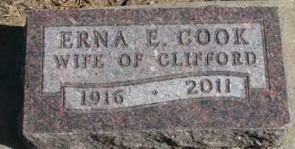 COOK, ERNA E. - Yankton County, South Dakota | ERNA E. COOK - South Dakota Gravestone Photos