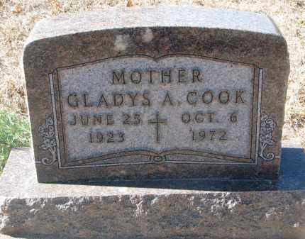 COOK, GLADYS A. - Yankton County, South Dakota | GLADYS A. COOK - South Dakota Gravestone Photos