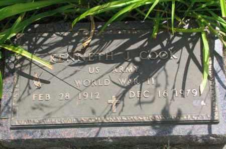 COOK, KENNETH J. (WW II) - Yankton County, South Dakota   KENNETH J. (WW II) COOK - South Dakota Gravestone Photos