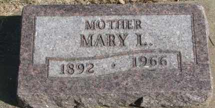 COOK, MARY L. - Yankton County, South Dakota | MARY L. COOK - South Dakota Gravestone Photos