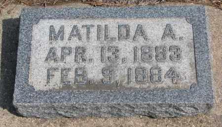 COOK, MATILDA A. - Yankton County, South Dakota | MATILDA A. COOK - South Dakota Gravestone Photos