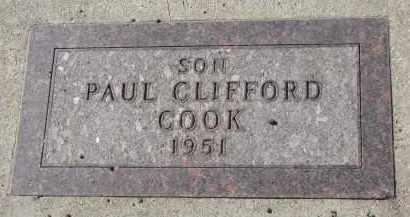 COOK, PAUL CLIFFORD - Yankton County, South Dakota | PAUL CLIFFORD COOK - South Dakota Gravestone Photos