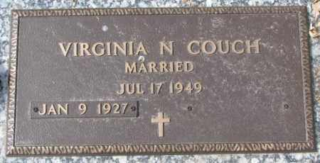 COUCH, VIRGINIA N. - Yankton County, South Dakota | VIRGINIA N. COUCH - South Dakota Gravestone Photos