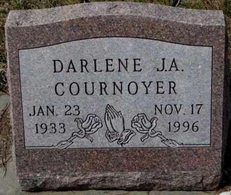 COURNOYER, DARLENE J.A. - Yankton County, South Dakota   DARLENE J.A. COURNOYER - South Dakota Gravestone Photos