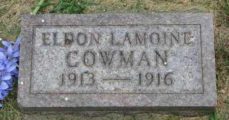 COWMAN, ELDON LAMOINE - Yankton County, South Dakota | ELDON LAMOINE COWMAN - South Dakota Gravestone Photos