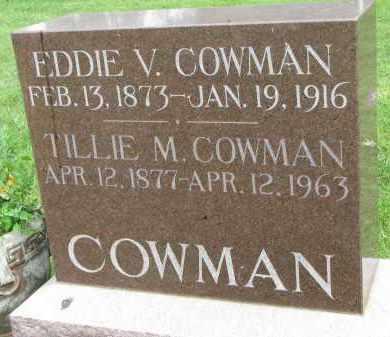 COWMAN, EDDIE V. - Yankton County, South Dakota | EDDIE V. COWMAN - South Dakota Gravestone Photos