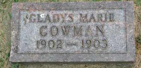 COWMAN, GLADYS MARIE - Yankton County, South Dakota | GLADYS MARIE COWMAN - South Dakota Gravestone Photos
