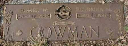 COWMAN, HOMER W. - Yankton County, South Dakota | HOMER W. COWMAN - South Dakota Gravestone Photos