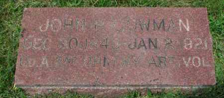 COWMAN, JOHN P. - Yankton County, South Dakota | JOHN P. COWMAN - South Dakota Gravestone Photos