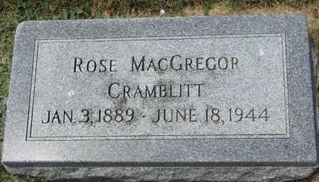 MACGREGOR CRAMBLITT, ROSE - Yankton County, South Dakota | ROSE MACGREGOR CRAMBLITT - South Dakota Gravestone Photos