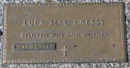 CRESSY, LULA MAE - Yankton County, South Dakota | LULA MAE CRESSY - South Dakota Gravestone Photos
