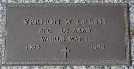 CRESSY, VERNON W. - Yankton County, South Dakota   VERNON W. CRESSY - South Dakota Gravestone Photos