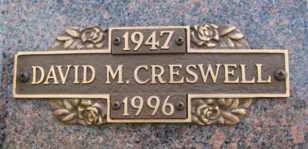 CRESWELL, DAVID M. - Yankton County, South Dakota | DAVID M. CRESWELL - South Dakota Gravestone Photos