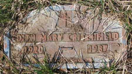 CRITCHFIELD, EDITH MARY - Yankton County, South Dakota | EDITH MARY CRITCHFIELD - South Dakota Gravestone Photos