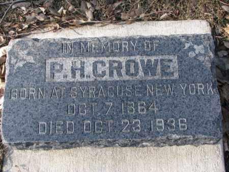 CROWE, P.H. - Yankton County, South Dakota   P.H. CROWE - South Dakota Gravestone Photos