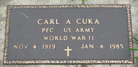 CUKA, CARL A. - Yankton County, South Dakota | CARL A. CUKA - South Dakota Gravestone Photos