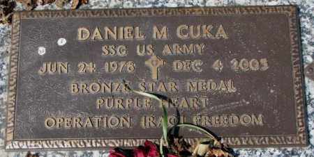 CUKA, DANIEL M. - Yankton County, South Dakota   DANIEL M. CUKA - South Dakota Gravestone Photos