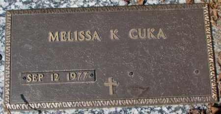 CUKA, MELISSA K. - Yankton County, South Dakota | MELISSA K. CUKA - South Dakota Gravestone Photos