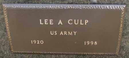 CULP, LEE A. (MILITARY) - Yankton County, South Dakota | LEE A. (MILITARY) CULP - South Dakota Gravestone Photos