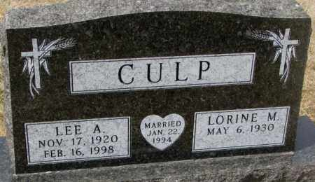 CULP, LEE A. - Yankton County, South Dakota | LEE A. CULP - South Dakota Gravestone Photos