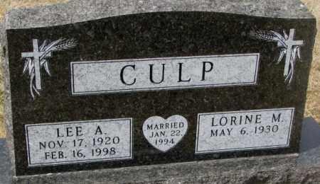 CULP, LEE A. - Yankton County, South Dakota | LEE A. CULP - South Dakota Gravestone Photos