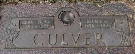 CULVER, SELMA C. - Yankton County, South Dakota | SELMA C. CULVER - South Dakota Gravestone Photos