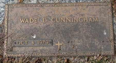CUNNINGHAM, WADE L. - Yankton County, South Dakota   WADE L. CUNNINGHAM - South Dakota Gravestone Photos