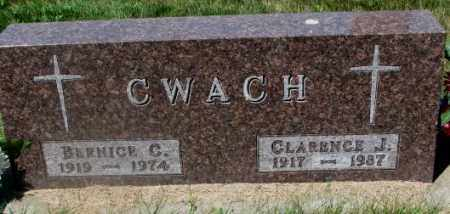 CWACH, CLARENCE J. - Yankton County, South Dakota | CLARENCE J. CWACH - South Dakota Gravestone Photos