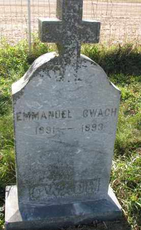 CWACH, EMMANUEL - Yankton County, South Dakota   EMMANUEL CWACH - South Dakota Gravestone Photos