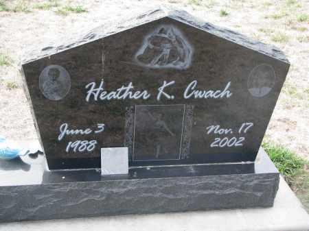 CWACH, HEATHER K. - Yankton County, South Dakota | HEATHER K. CWACH - South Dakota Gravestone Photos