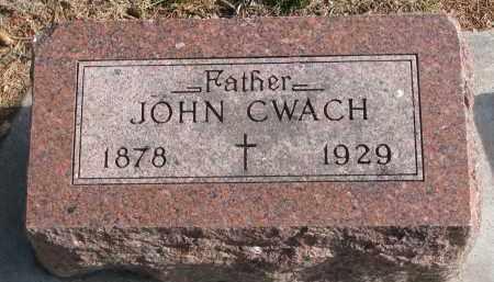 CWACH, JOHN - Yankton County, South Dakota | JOHN CWACH - South Dakota Gravestone Photos