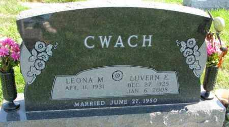 CWACH, LUVERN E. - Yankton County, South Dakota | LUVERN E. CWACH - South Dakota Gravestone Photos