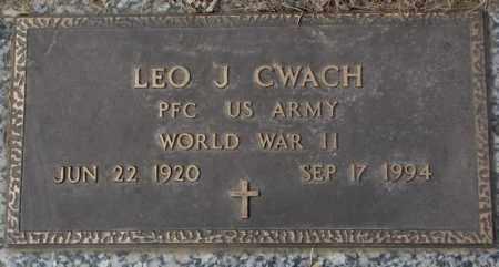 CWACH, LEO J. - Yankton County, South Dakota   LEO J. CWACH - South Dakota Gravestone Photos